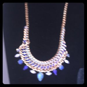 Jewelry - Necklace with blue stones in chain